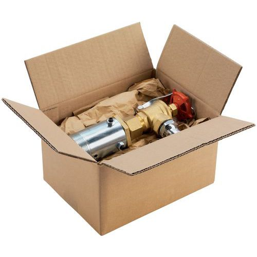 Caisse carton - Simple cannelure - Grosse cannelure