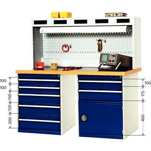 Établi Cubio Combi avec 2 armoires à tiroirs - Arphenol