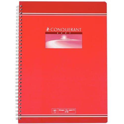 Cahier Conquérant 7 - Grands carreaux