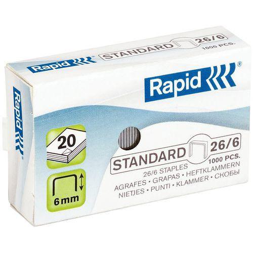 Agrafes Standard 26/6 lot de 1000 - Rapid