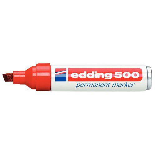 Marqueur permanent Edding 500 - Pointe biseautée