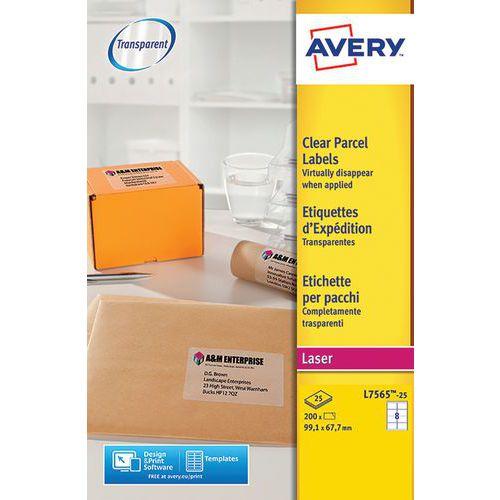 Étiquette transparente Avery - Impression Laser
