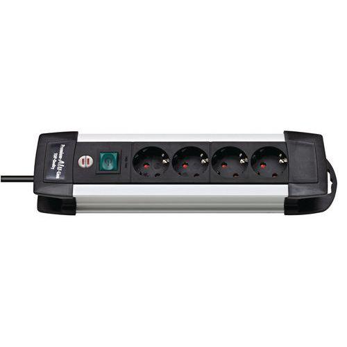 Multiprise premium Alu-Line 4 prises