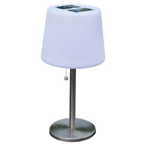 Lampe solaire de table Mora 3 LED blanche - 100 lm - AIC International