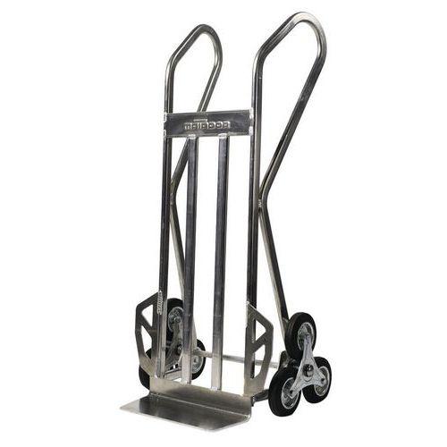 Diable en aluminium pour escalier avec 3 roues en étoiles - Capacité 150 kg