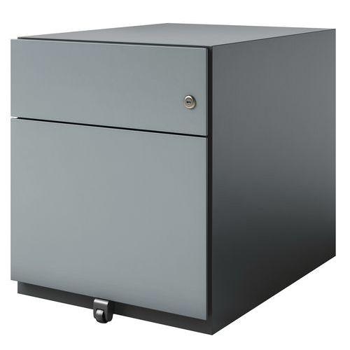 Caisson mobile en métal bas - 2 tiroirs - Bisley