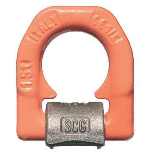 Etrier de levage à souder base simple - Capacité de 1500 kg à 16000 kg