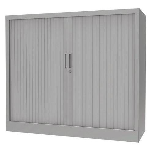 Armoire à rideaux - Avec plateau supérieur - Gris aluminium