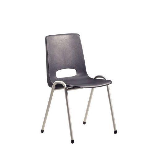 chaise coque plastique anthracite. Black Bedroom Furniture Sets. Home Design Ideas