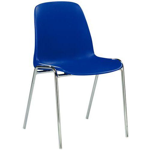 Chaise coque non feu empilable