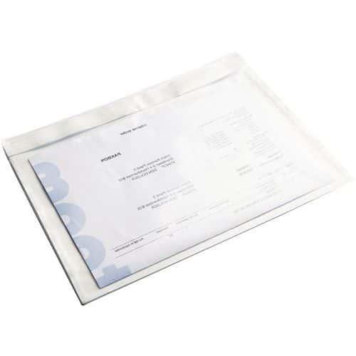 Pochette portedocuments  Plastique & kraft blanc