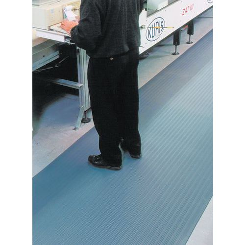 Tapis antifatigue ergonomique standard - Surface granuleuse- Le mètre linéaire - Manutan