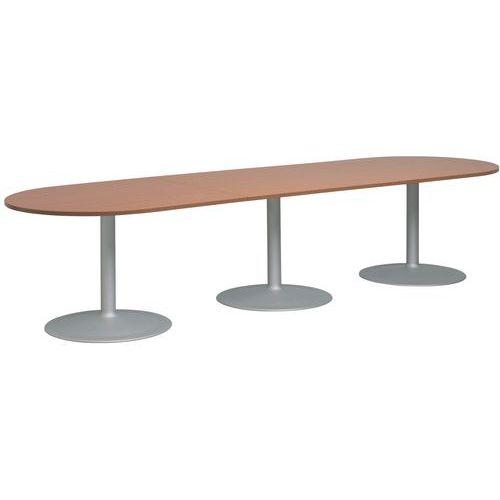 Table modulaire ovale - Semi-ovale - Pied tulipe