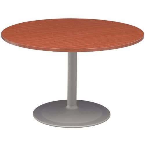 table ronde pied tulipe en merisier. Black Bedroom Furniture Sets. Home Design Ideas