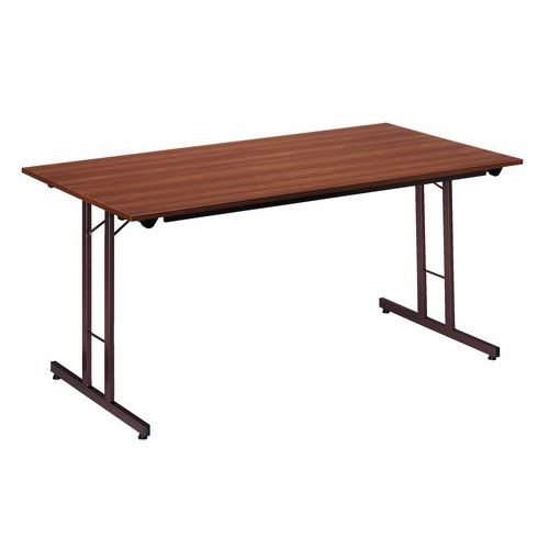 Table pliante rectangle écologique - Piétement latéral - L 160 cm