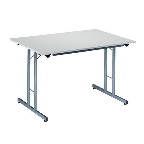 Table pliante rectangle écologique - Piétement latéral - L 120 cm