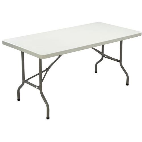 Table pliante rectangle polyéthylène - Piétement tubulaire