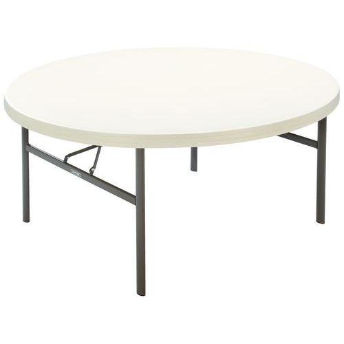 Table pliante ronde polyéthylène - Piétement tubulaire
