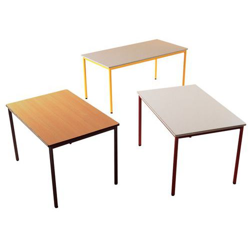 Table rectangulaire polyvalente - Plateau stratifié