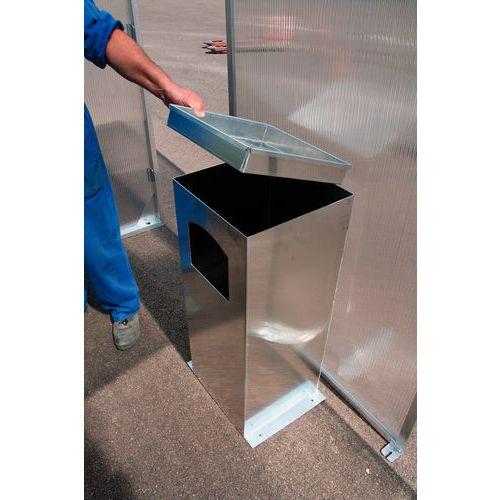 Cendrier poubelle pour abri fumeurs clear for Abris exterieur pour fumeur