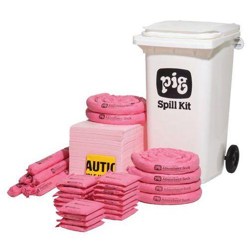 Conteneur d'absorbants pour produits chimiques - 158 L