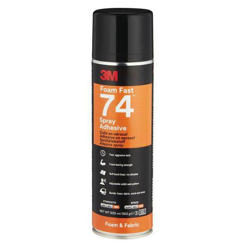 Colle aérosol spécial mousses souples - Scotch-Weld™ 74 - 3M™