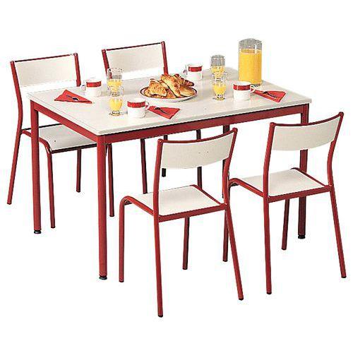 Ensemble chaises table rectangulaire - Plateau stratifié - 6 places