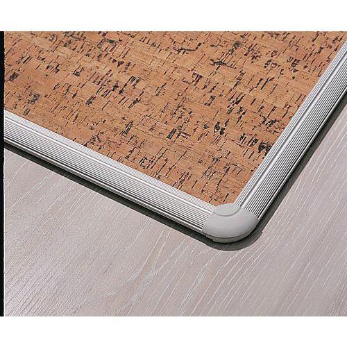 Panneau d 39 affichage en li ge d coratif avec profil en aluminium - Panneau en liege ...