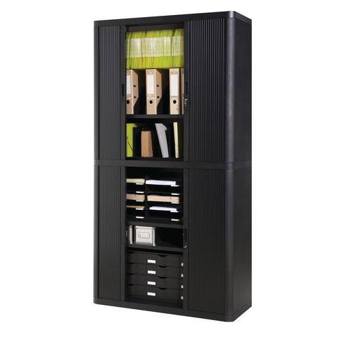 armoire rideaux en kit easyoffice hauteur 204 cm manutan f. Black Bedroom Furniture Sets. Home Design Ideas