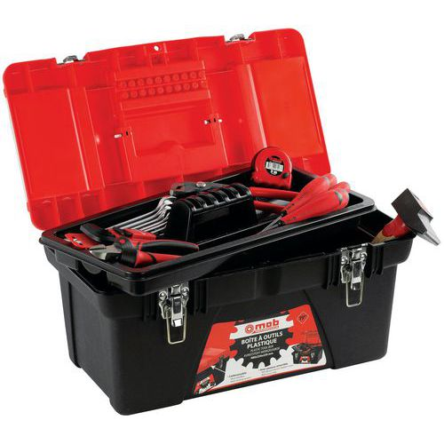 Boîte à outils plastique garnie 25 pièces - Mob