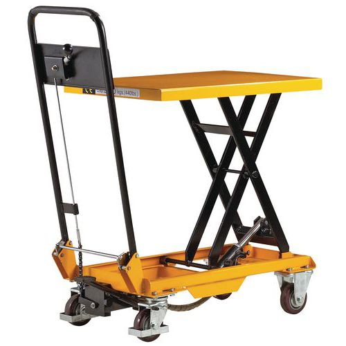 Table l vatrice mobile force 200 500 kg for Table elevatrice