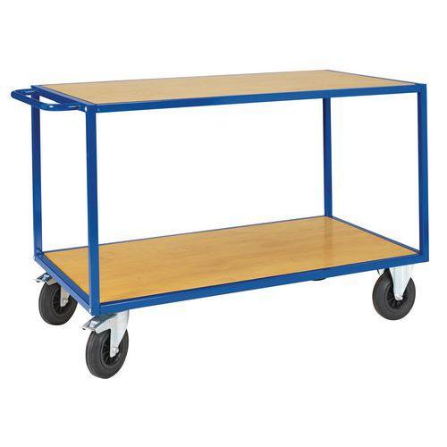 chariot plateaux bois 2 plateaux force 500 kg. Black Bedroom Furniture Sets. Home Design Ideas