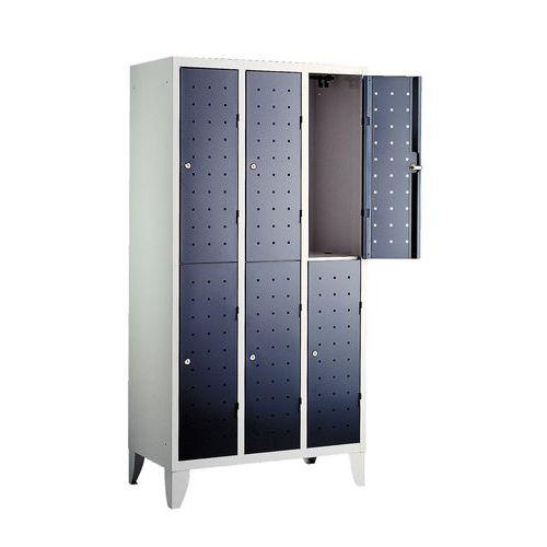 vestiaire 6 cases penderie design 3 colonnes largeur 300 mm. Black Bedroom Furniture Sets. Home Design Ideas