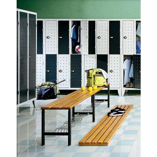 vestiaire 4 cases penderie design 2 colonnes largeur 300 mm sur pieds. Black Bedroom Furniture Sets. Home Design Ideas