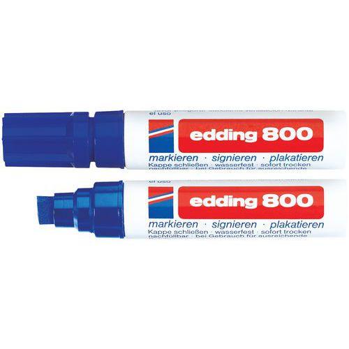 Marqueur permanent Edding 800 - Pointe biseautée