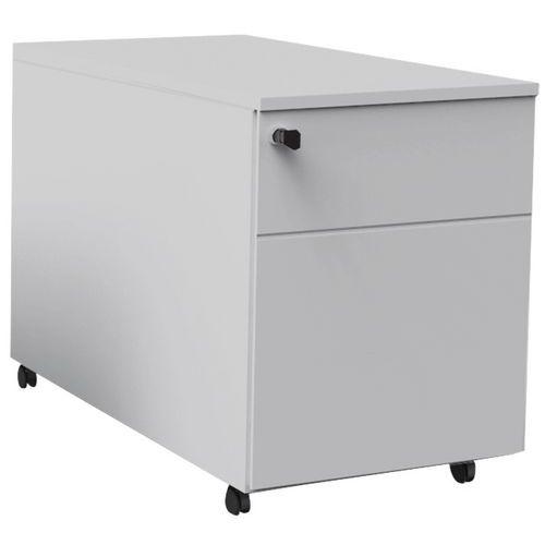 Caisson mobile à tiroirs Confort 2 - Gris clair