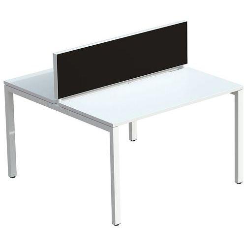 Panneau écran de séparation tissu M1 pour bureau Bench Easy Office