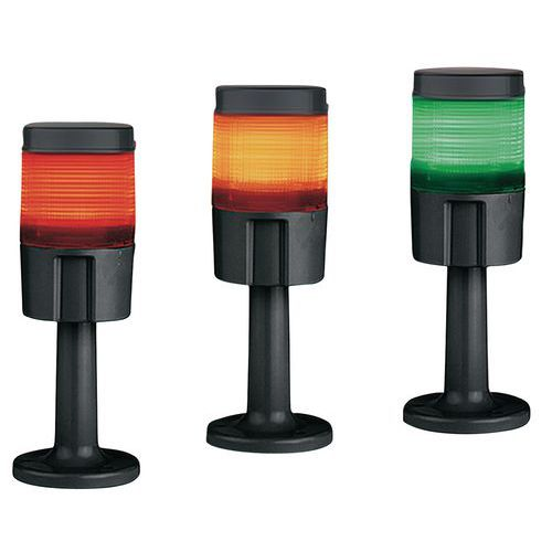 Colonne lumineuse à leds multicouleurs - Rouge, orange et vert