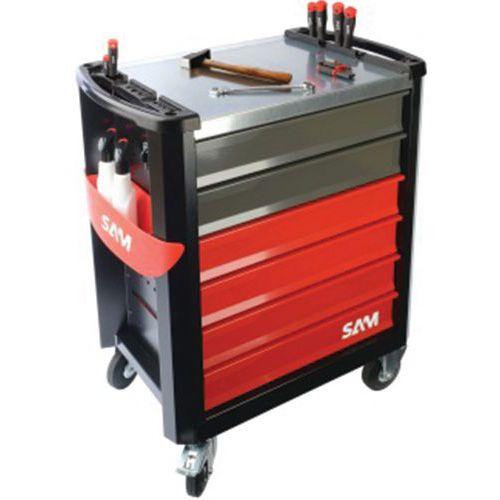 Servante servi-630nz 6 tiroirs modules abs avec 135 outils