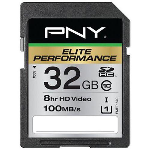 Carte SDHC Elite Performance Classe 10 - 32Go PNY