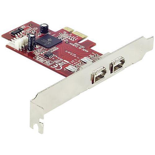 Carte PCI-Express FireWire 400 IEEE1394a - 2 ports