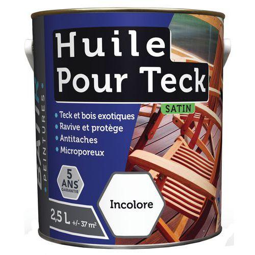 Peinture huile pour Teck - 0,75 L ou 2,5 L - Batir