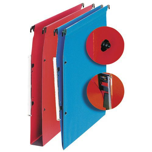 Dossier suspendu à boutons-pression médium + - Pour armoire - Fond 30 mm