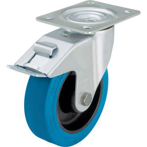 Roulette pivotante à platine et frein - Force 150 à 300 kg