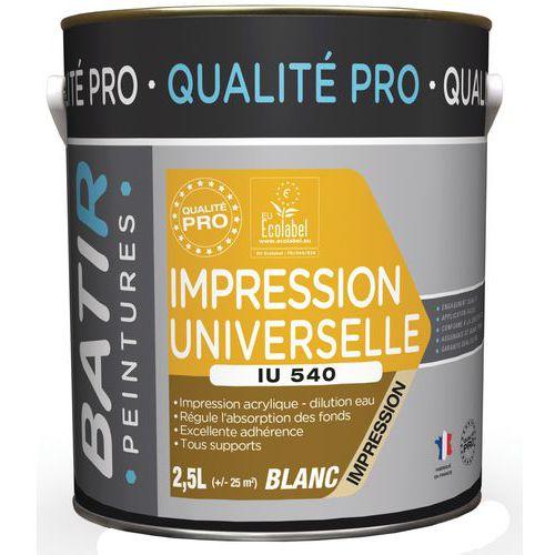 Peinture impression universelle IU 540 - 2,5 L - Batir