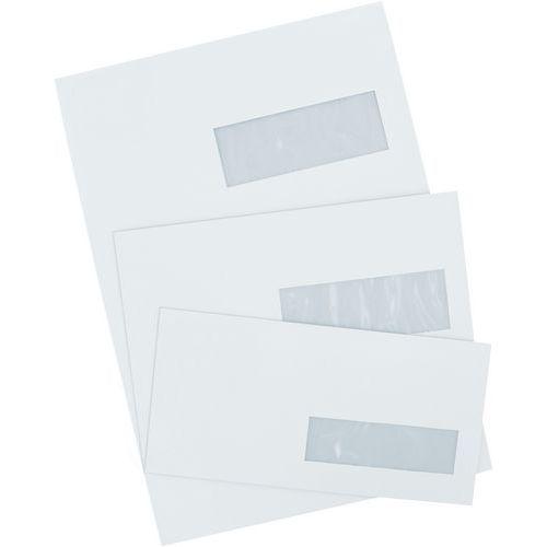 Enveloppe blanche 80 g avec fen tre droite for Enveloppe c4 avec fenetre