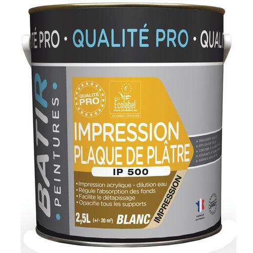 Peinture impression plaque de plâtre IP500 - 2,5 L - Batir