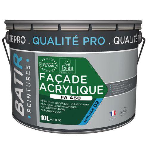 Peinture acrylique façade FA450 - 10 L - Batir
