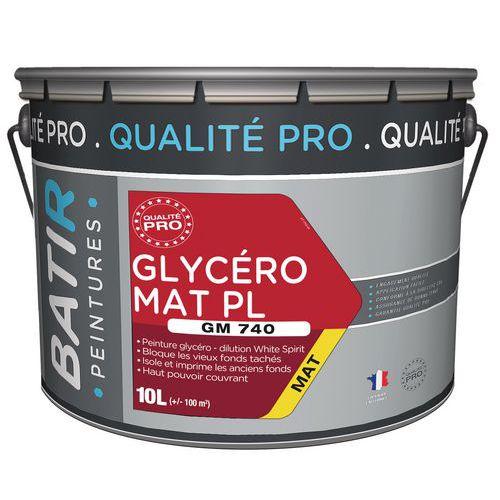 Peinture glycero mat pl GM740 - 10 L - Batir