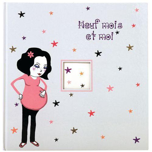 Livre de grossesse illustré 80 pages Neuf mois et moi